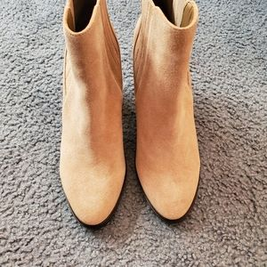Joie Taupe Suede Booties